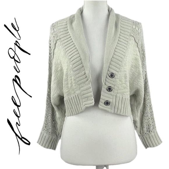 47858e76f5ae Free People Sweaters | Oatmeal Button Down Cropped Cardigan | Poshmark